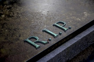 RIP on a grave